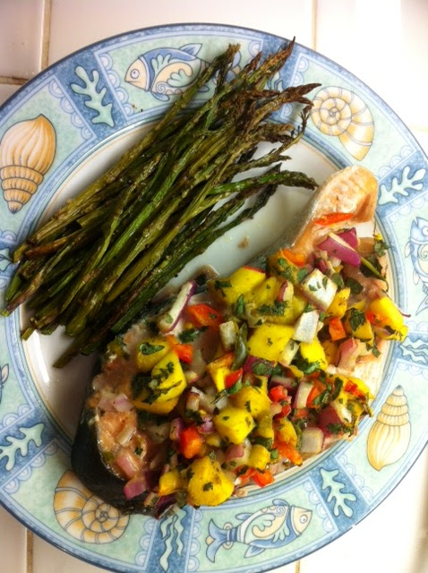 Superfoods Month: Salmon with fruit salsa by Maura Ammenheuser