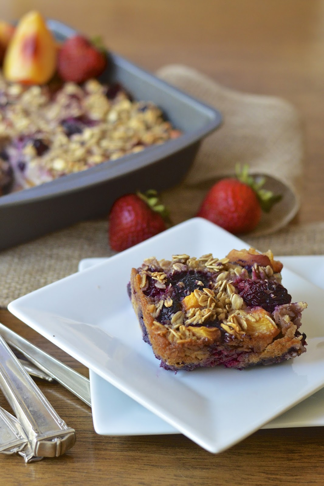 Summer Fruit Baked Oatmeal | Virtually Homemade: Mixed Summer Fruit ...