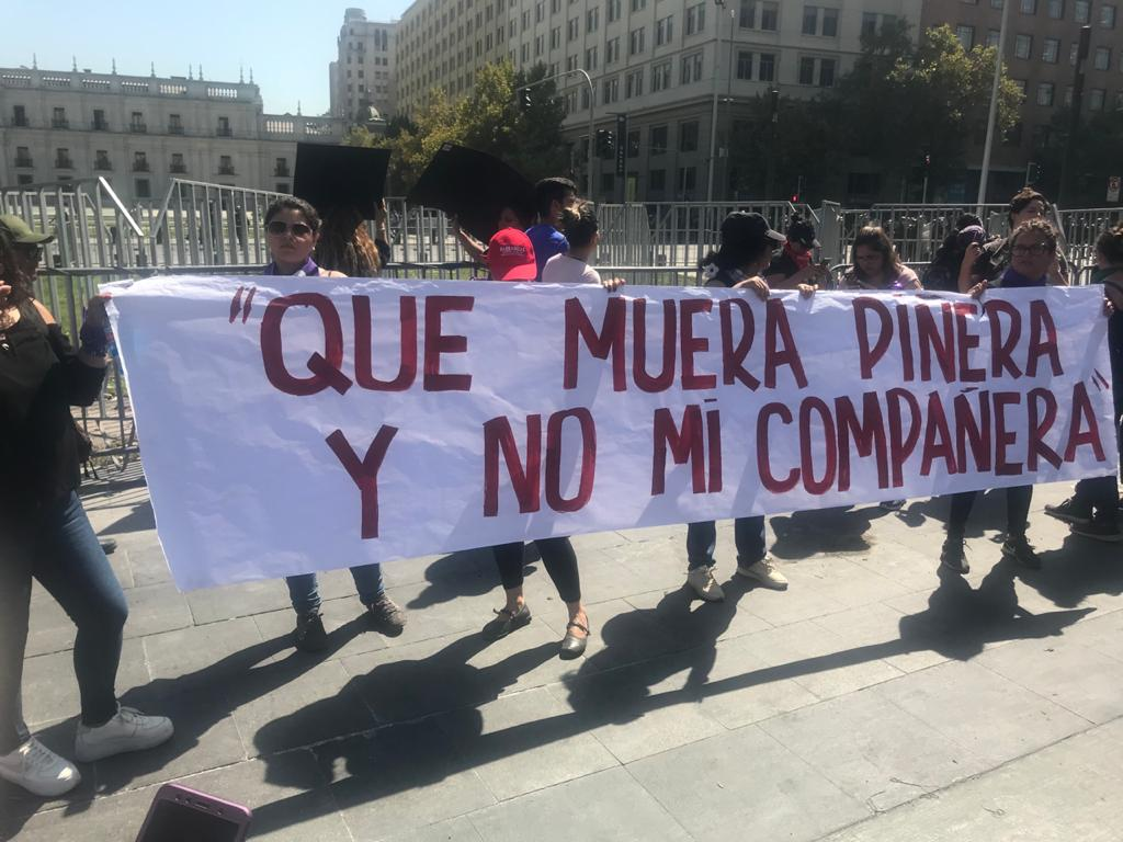 Am Frauenstreik vom 9. März in Chile