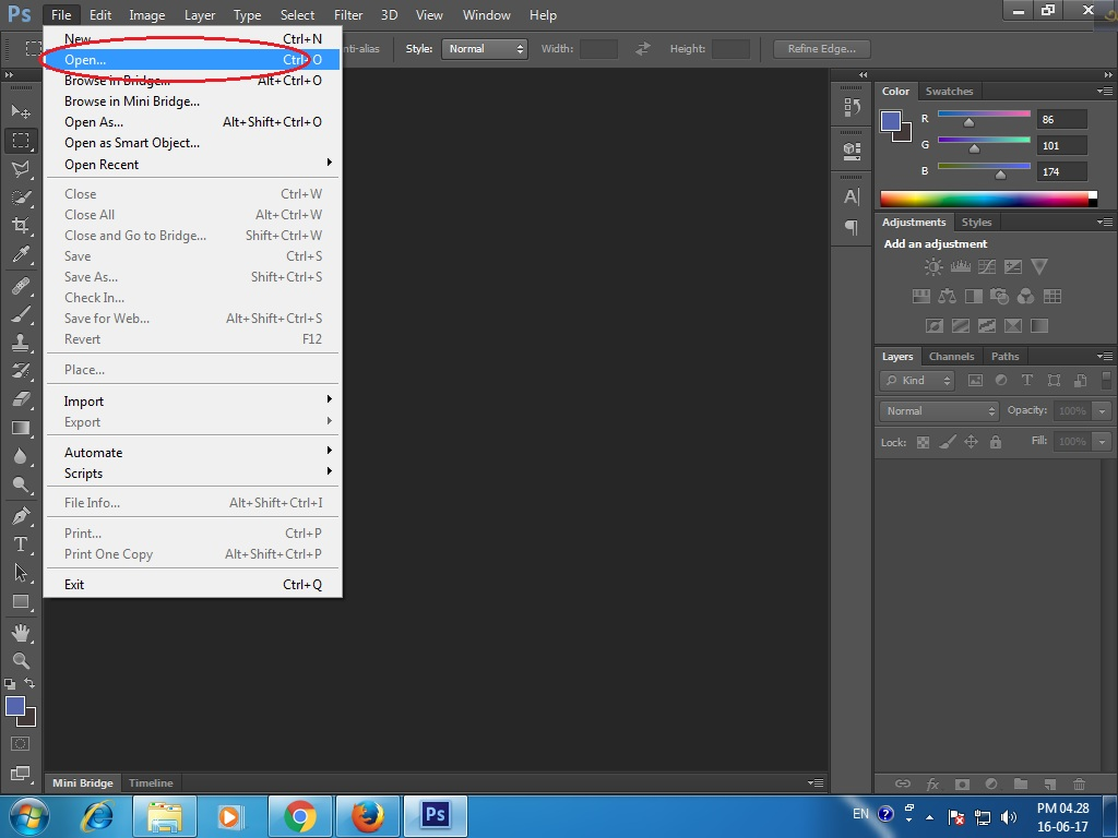 Photoshop cs6 tutorials how to change background of your photo in step 1 open the image in photoshop cs6 baditri Gallery