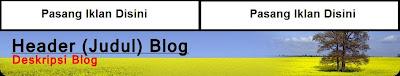 widget diatas header blog