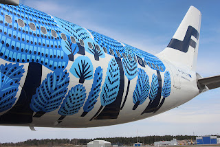 Finnair has been accused of copyright violation with its A330 livery