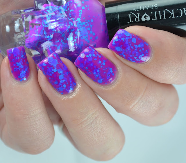 BlackHeart Beauty Violet & Blue Glitter Nail Polish
