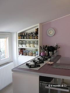 Il mio regno: l'angolo delle spezie e i piani di lavoro più utilizzati in cucina