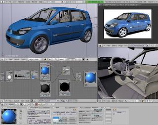Contoh karya Blender 3D