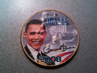 Front Obverse 24k Gold plated Obama half dollar commemorative coin found coin roll hunting half dollar coin rolls from bank