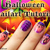 Halloween Nailart Tutorial: Spooky nails #halloweenfelice