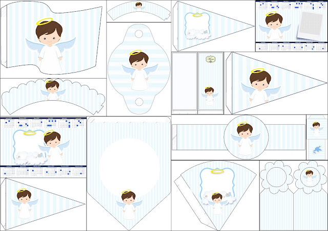 Cute Angel Boy: Free Party Printables.