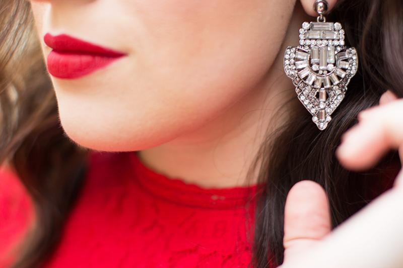 art deco chandelier earrings