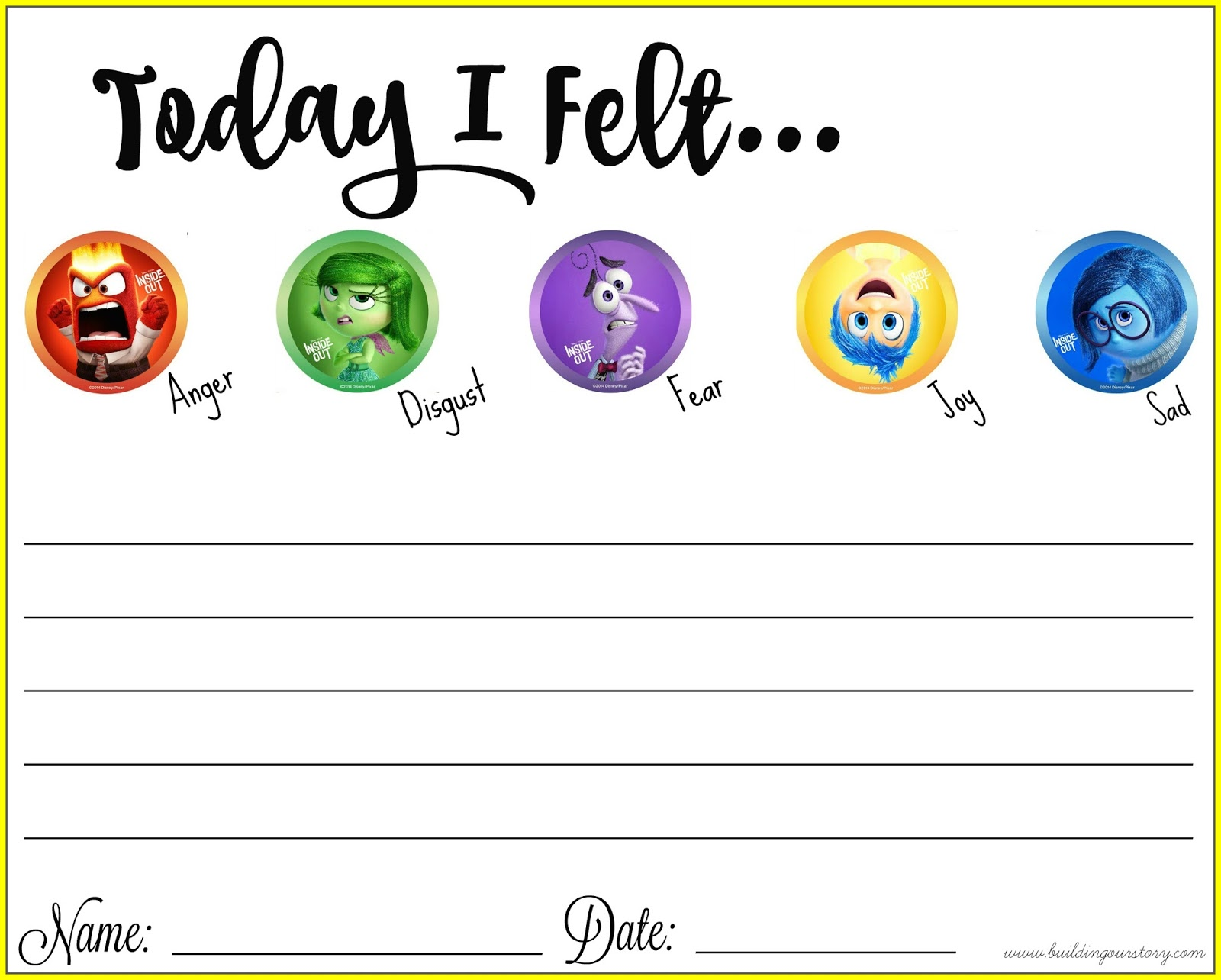 worksheet Emotions Worksheet thinking about our emotions with inside out free printable dvd