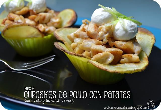 Falsos Cupcakes de Pollo con Patatas