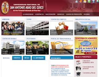Resultados examen UNSAAC 2014 2, ingresantes Universidad San Antonio Abad del Cusco domingo 17 de Agosto