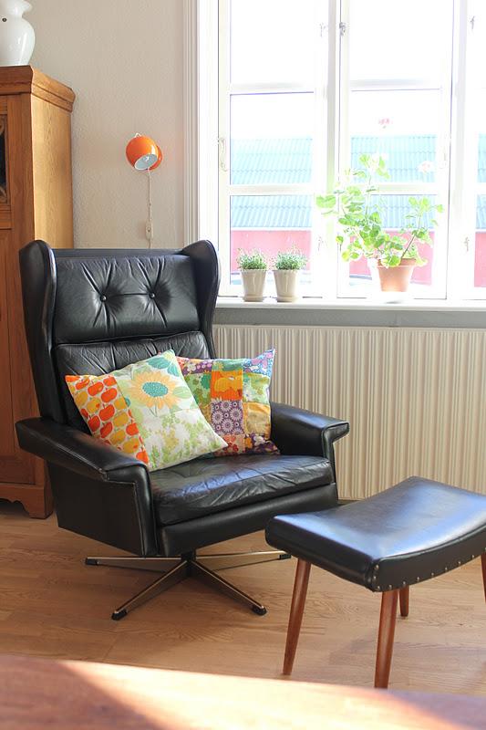 ævlebævle: ny/gammel stol og lampe til stuen