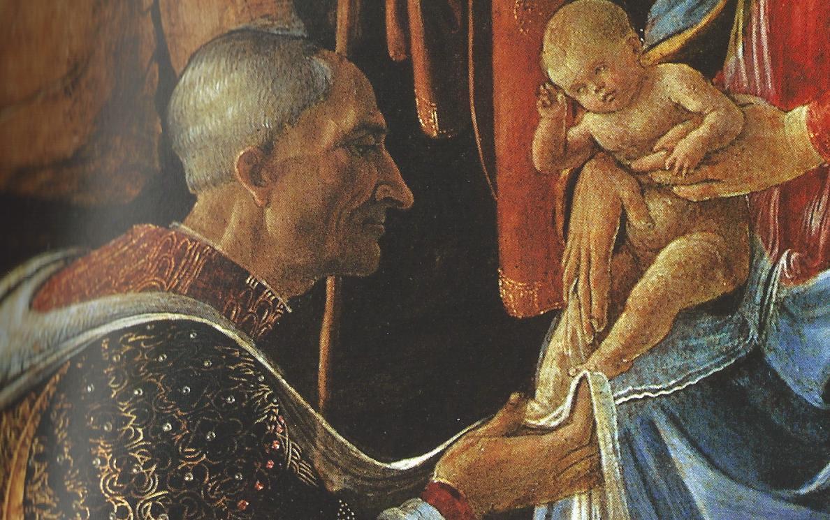 ¿Quiénes son los personajes del cuadro 'La adoración de los Reyes Magos'? Sandro Boticelli, 1475 Cosme+de+medici