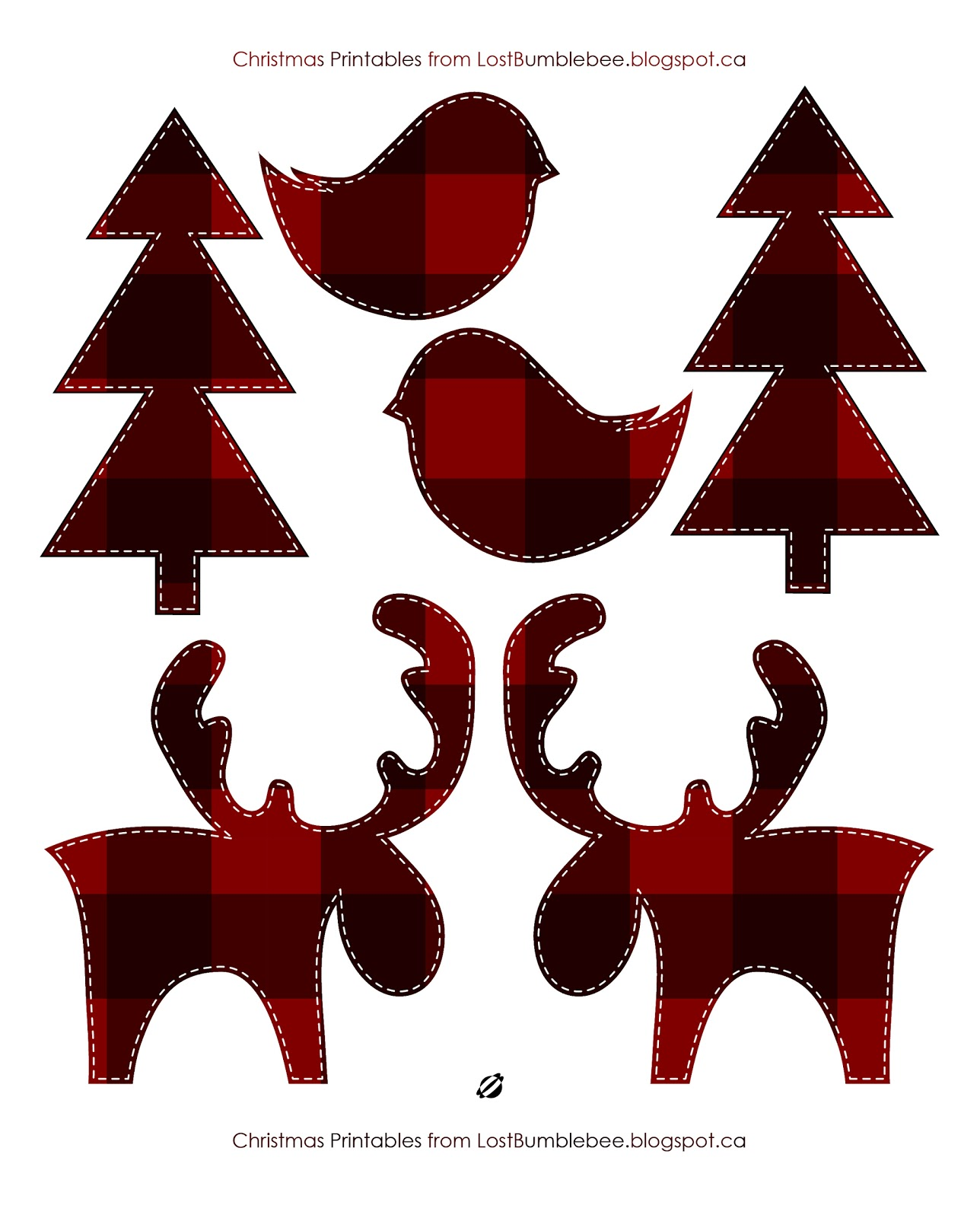 LostBumblebee 2013- Canadiana Christmas- Merry Christmoose- Free Printable