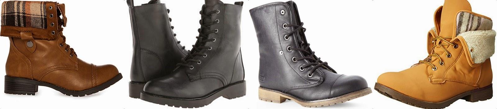 brown black and cognac combat boots