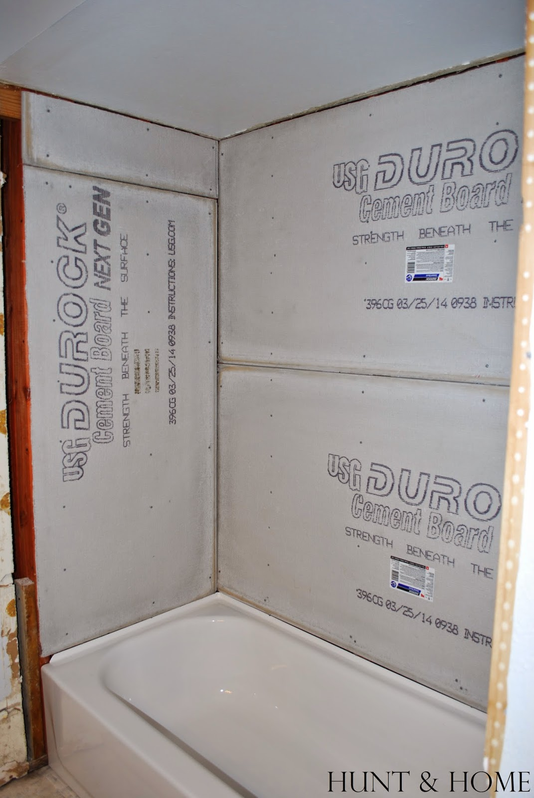 how to install concrete backer board in shower