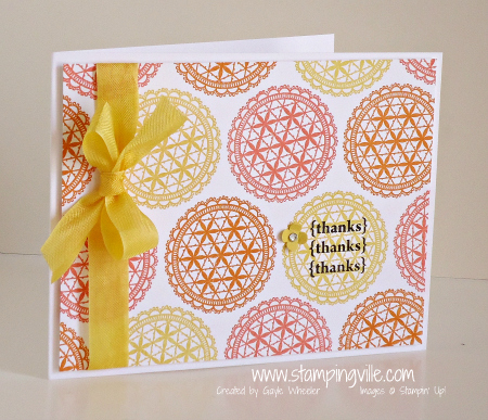 Delicate Doilies Thank You Card
