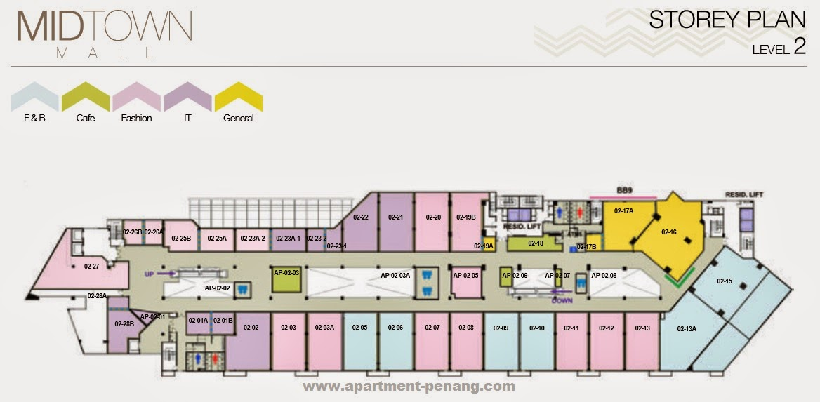 udini square metroeast apartment penang com floor plans midtown plaza
