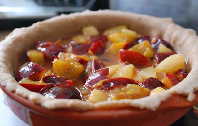 tarte aux poires et aux prunes a l'ancienne recette