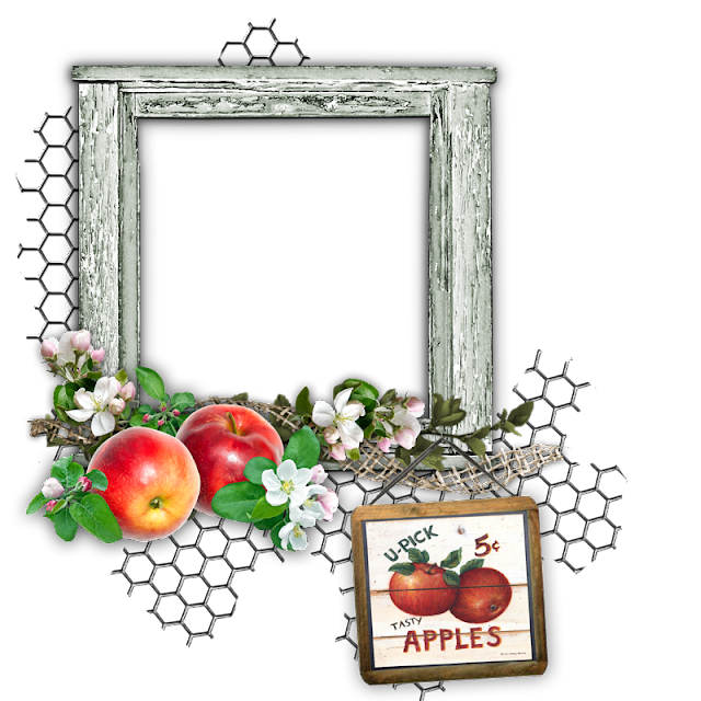 Autumn Apples Digital Scrapbook Freebie