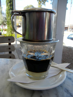 Vietnamese coffee at the Elizabeth St. Cafe