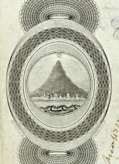 early vignette of Potosi silver mountain