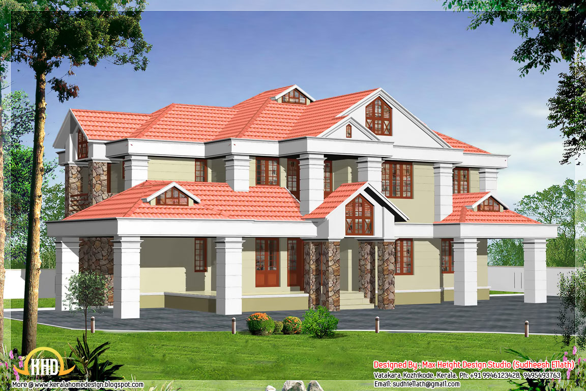 5 Beautiful Indian house elevations - Kerala home design and floor ...