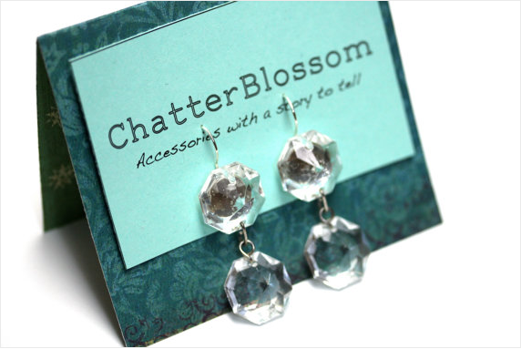 Glass Chandelier Earrings #womens #earrings