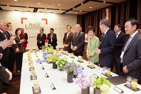 대통령박근혜 , 아시안리더십 콘퍼런스 참석 – 한반도 통일과 동북아 평화를 향하여! 2015년 5월 19일