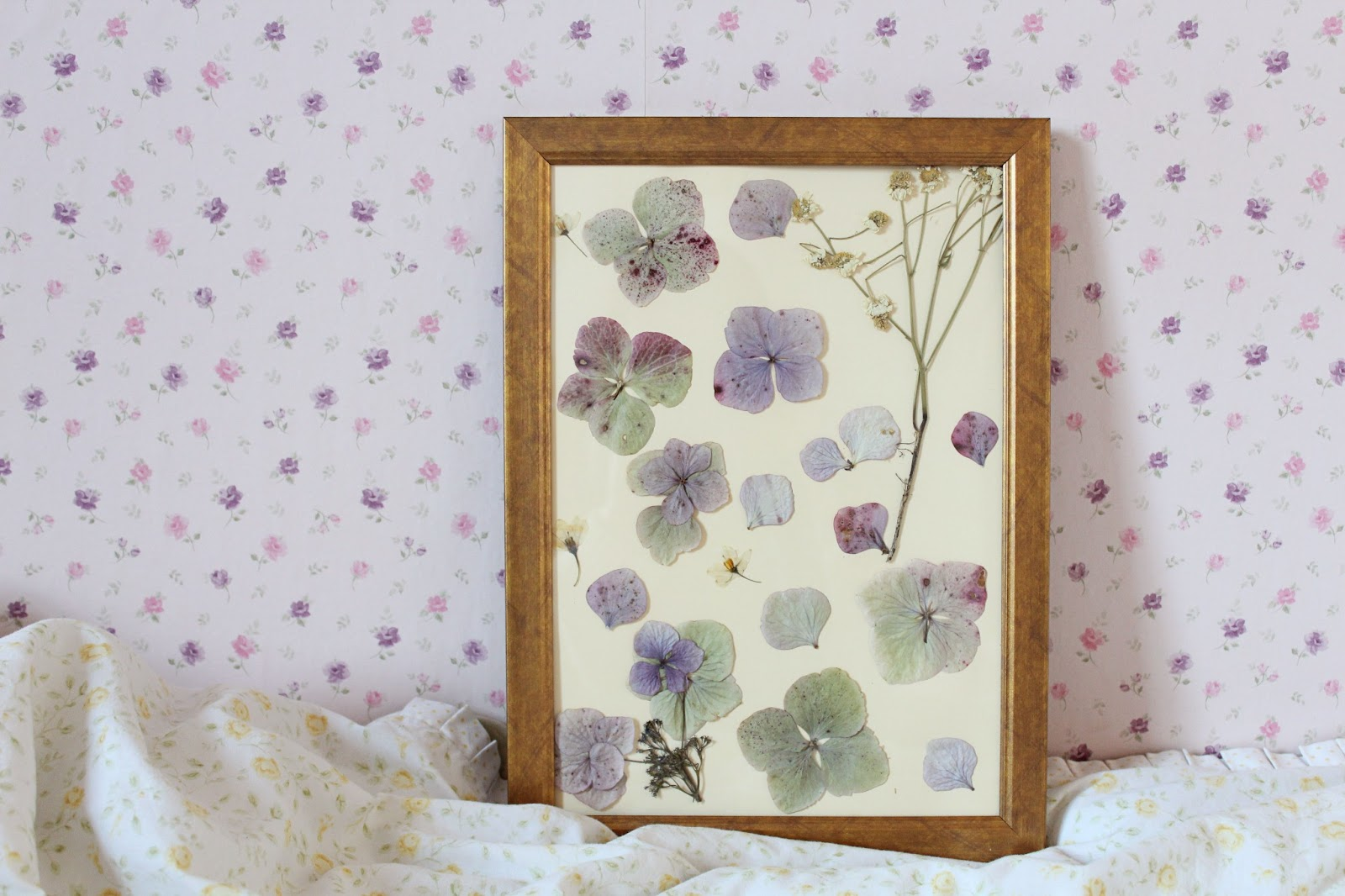 DIY: Pressed flower pictures | Gingerlillytea