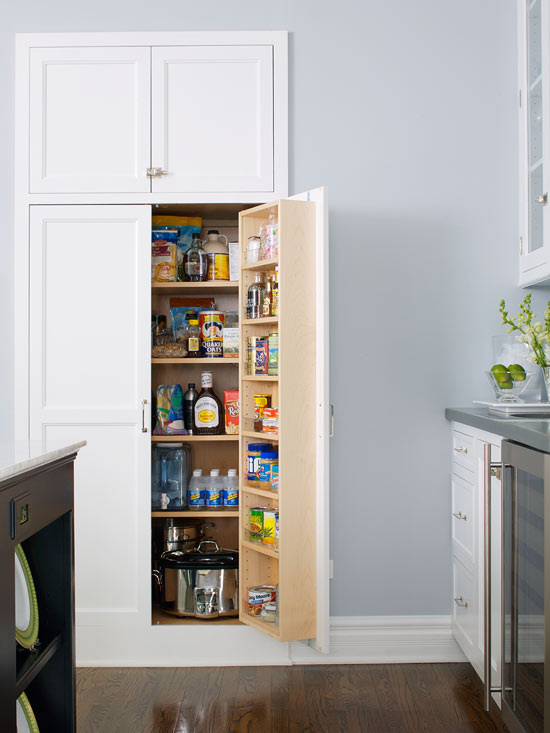 Dealing With Built In Kitchens For Small Spaces Recessed Pantry Design The Built In Look Of Recessed Panel Kitchen