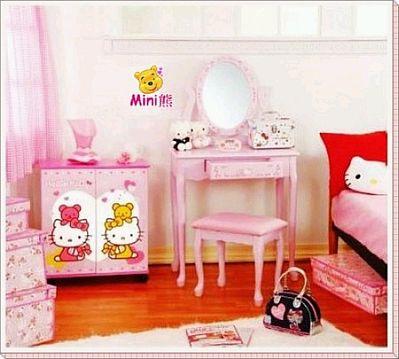 Decoraci n de dormitorios para ni as con for Cuarto para nina hello kitty