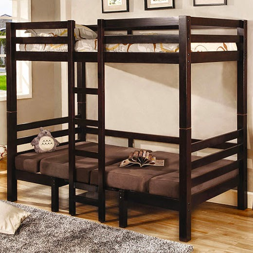 Good Amazing Twin Over Twin Convertible Loft Bed in Dark Finish definetely will be a usable space in your youth bedroom A top twin bunk sits above