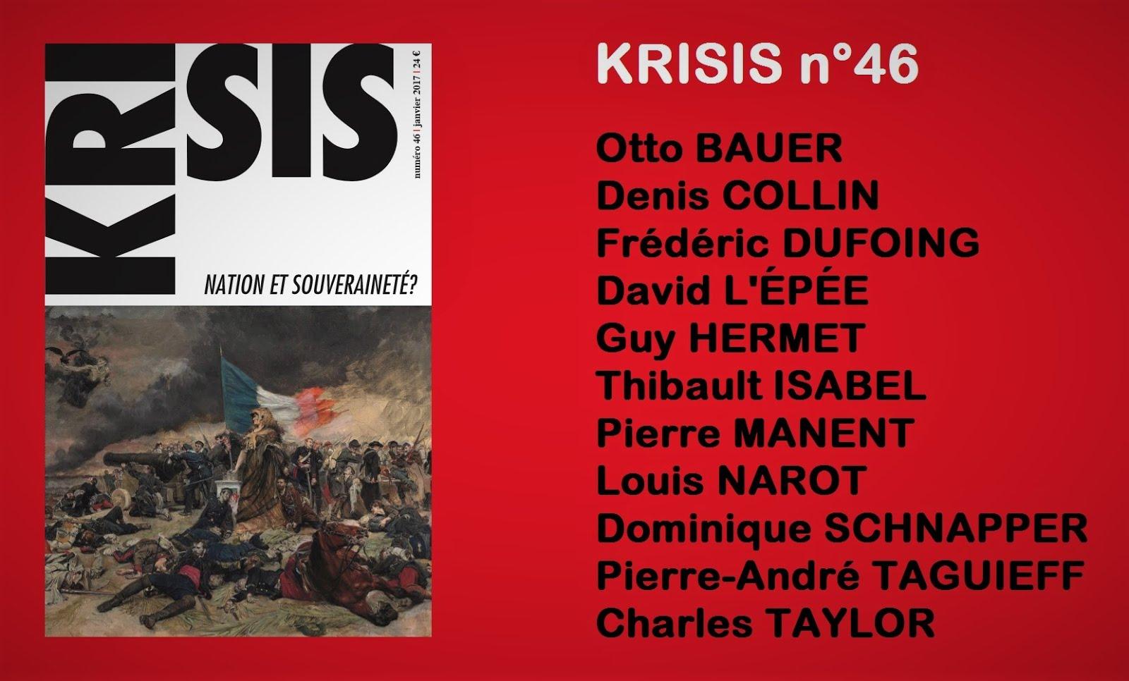 Krisis 46 Nation et souverainété ?