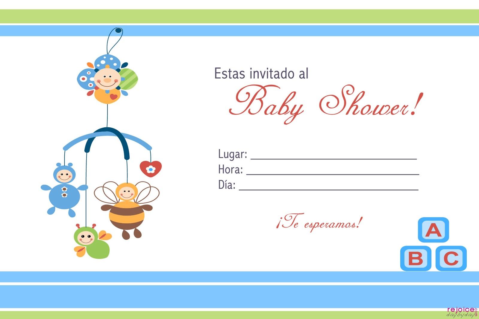 Invitaciones de baby shower para editar de niño - Imagui