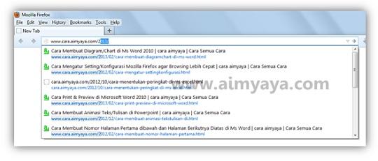 Gambar: Contoh tampilan address bar di Mozilla Firefox