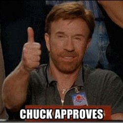 Chuck and me are at od...