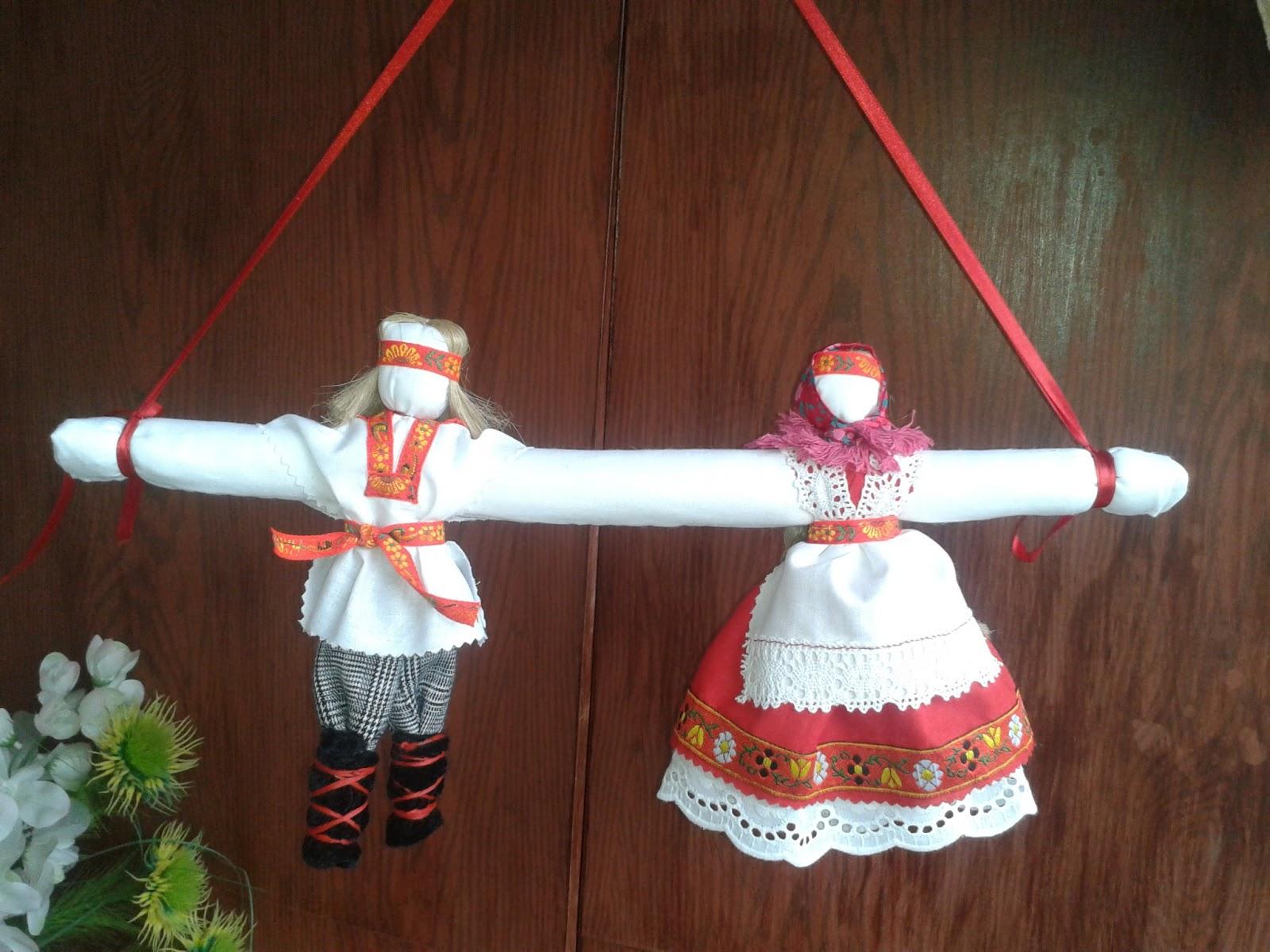 Неразлучники. Народная кукла из ткани, мастер-класс / Умелые 21