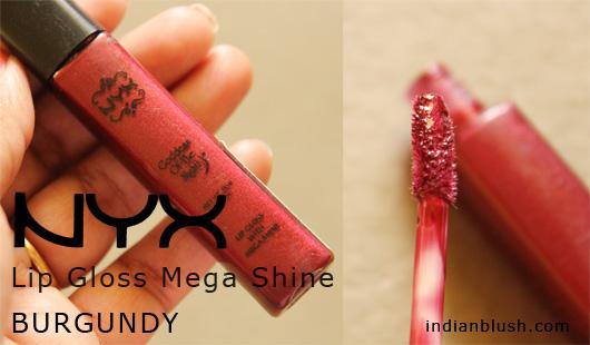 NYX Lip Gloss with Mega Shine  BURGUNDY