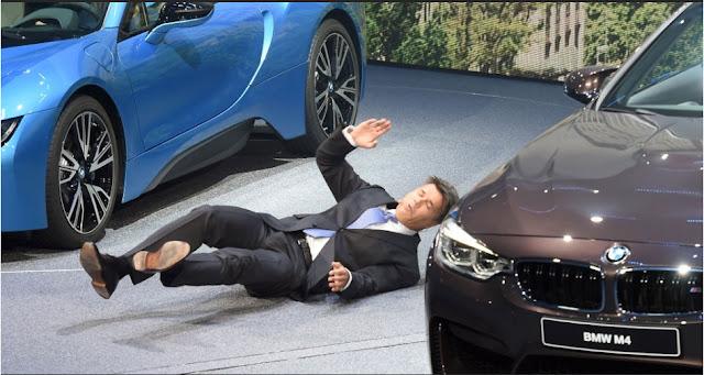 Executivo da BMW desmaiou