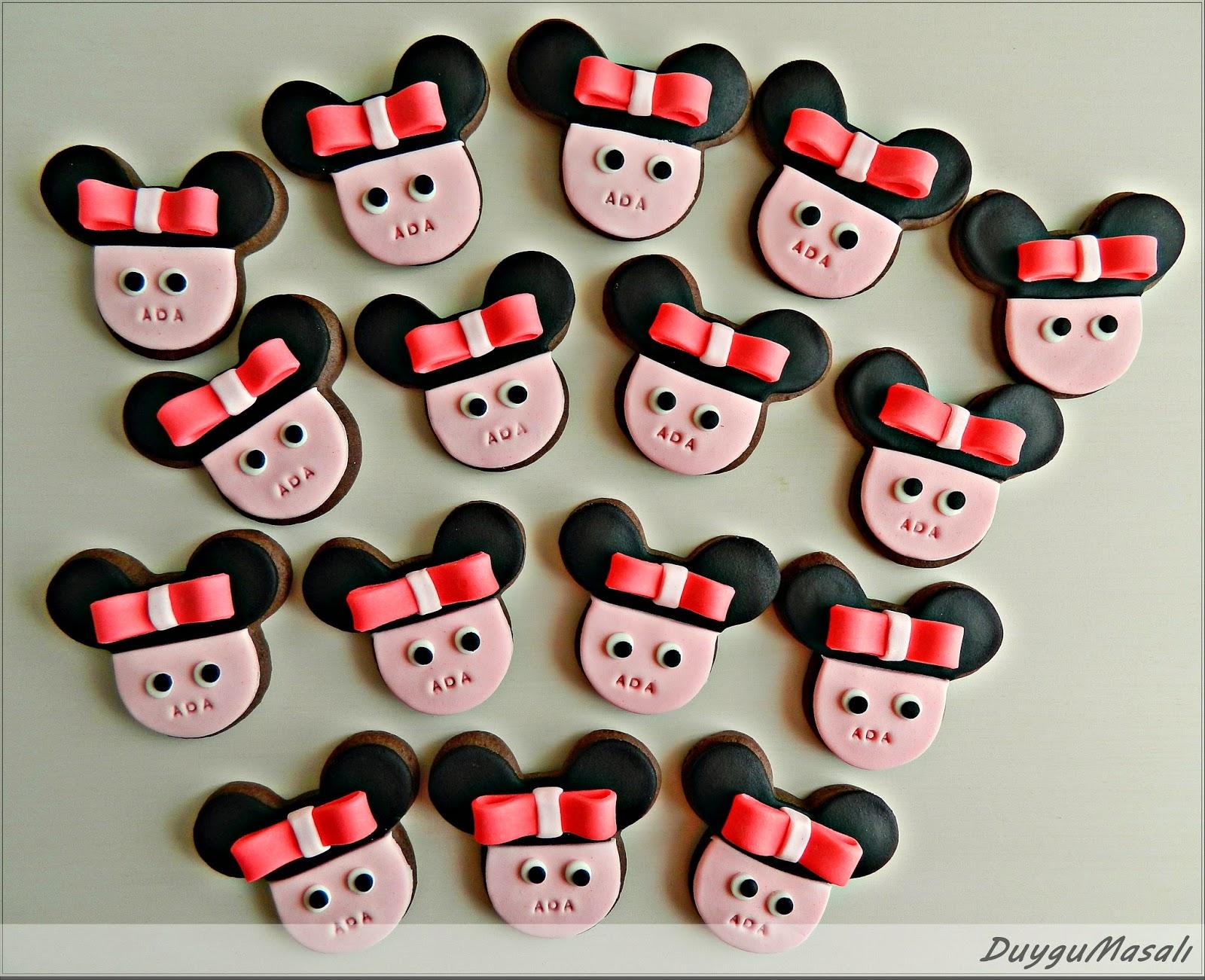 minnie mouse butik kurabiye