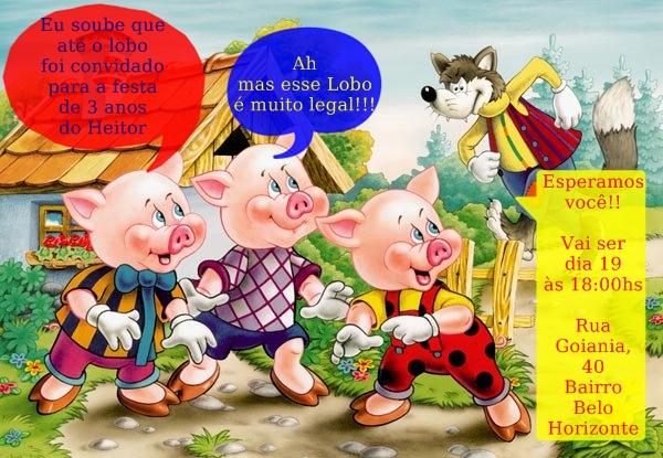 Três Porquinhos, Festa Tema Lobo Mau