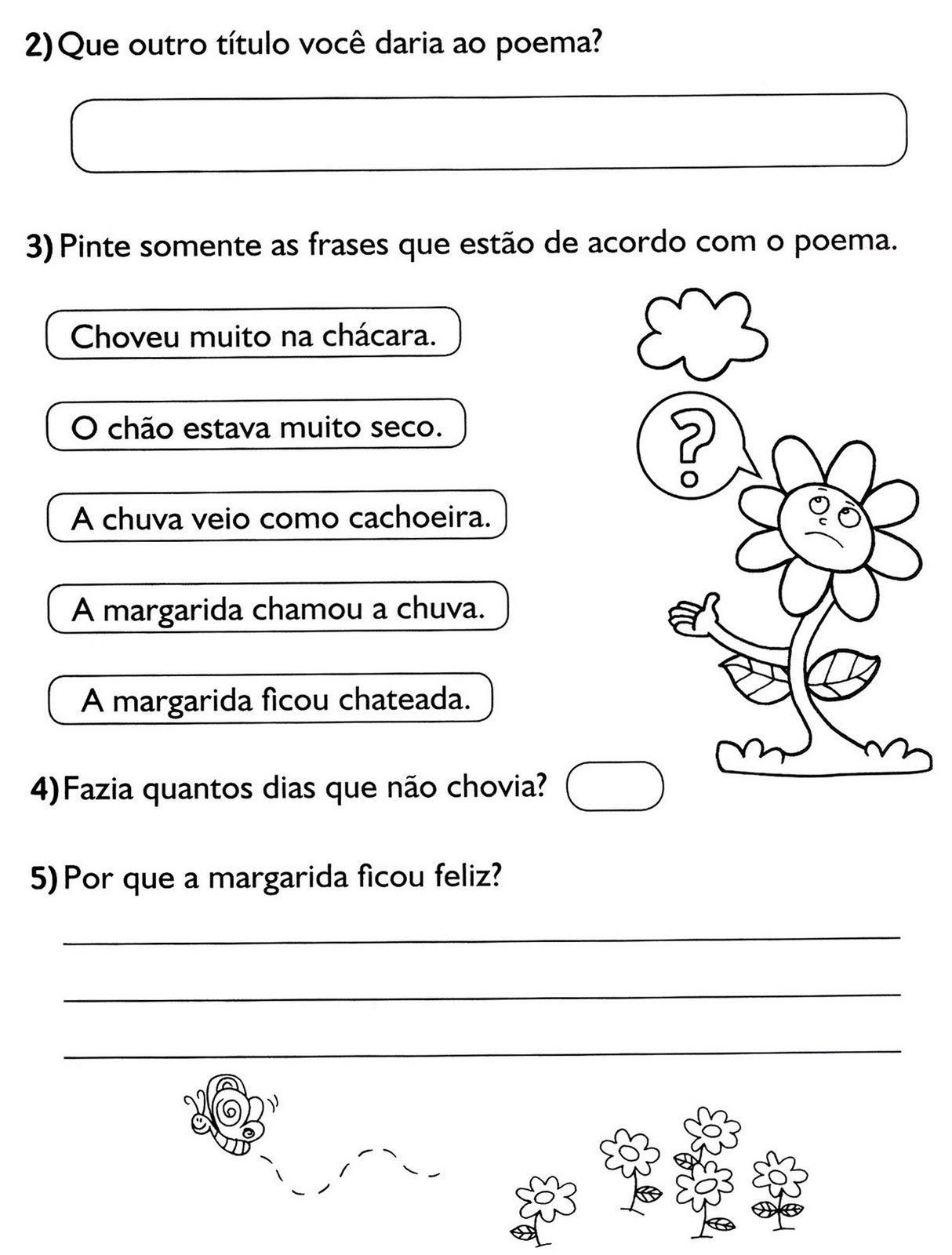 Jardim Da Tia Di Atividades De Língua Portuguesa