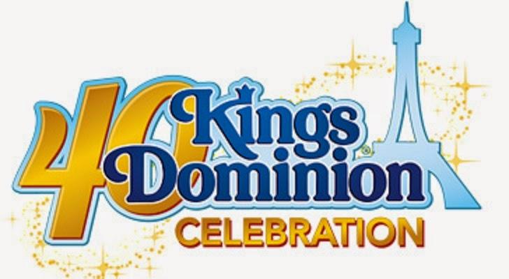 Kings Dominion 40th Anniversary logo