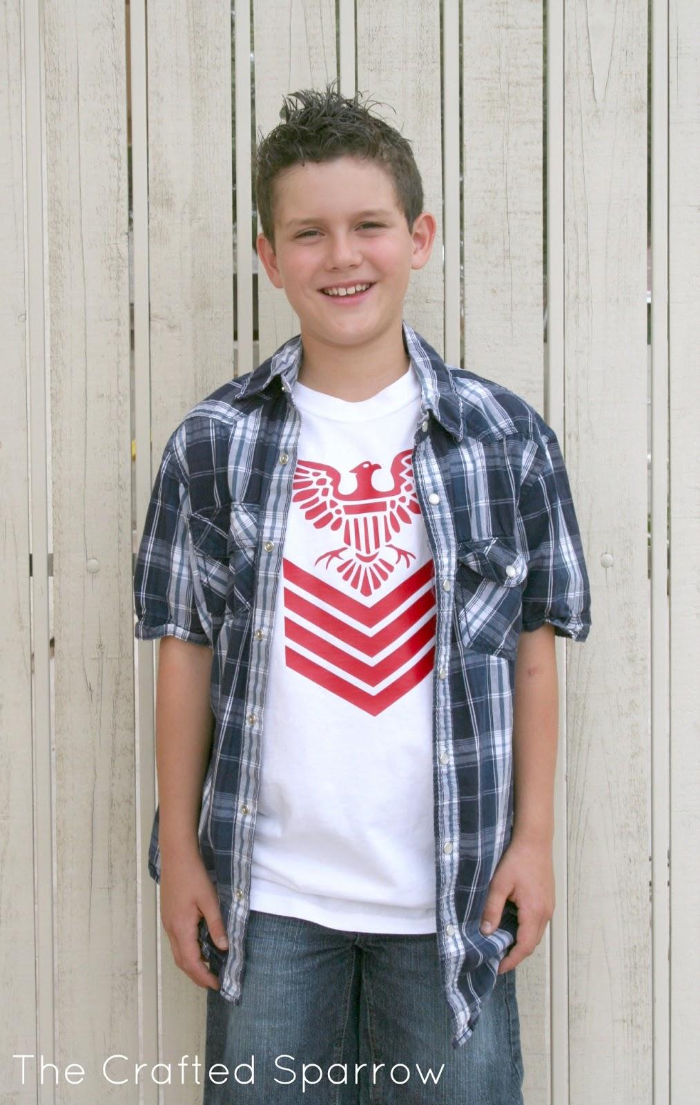 cricut iron on boys fashion t shirt - T Shirt Design Ideas Cutting