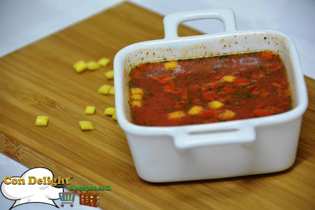 מרק עגבניות חריף נמס בכוס קנור Knorr tomato soup