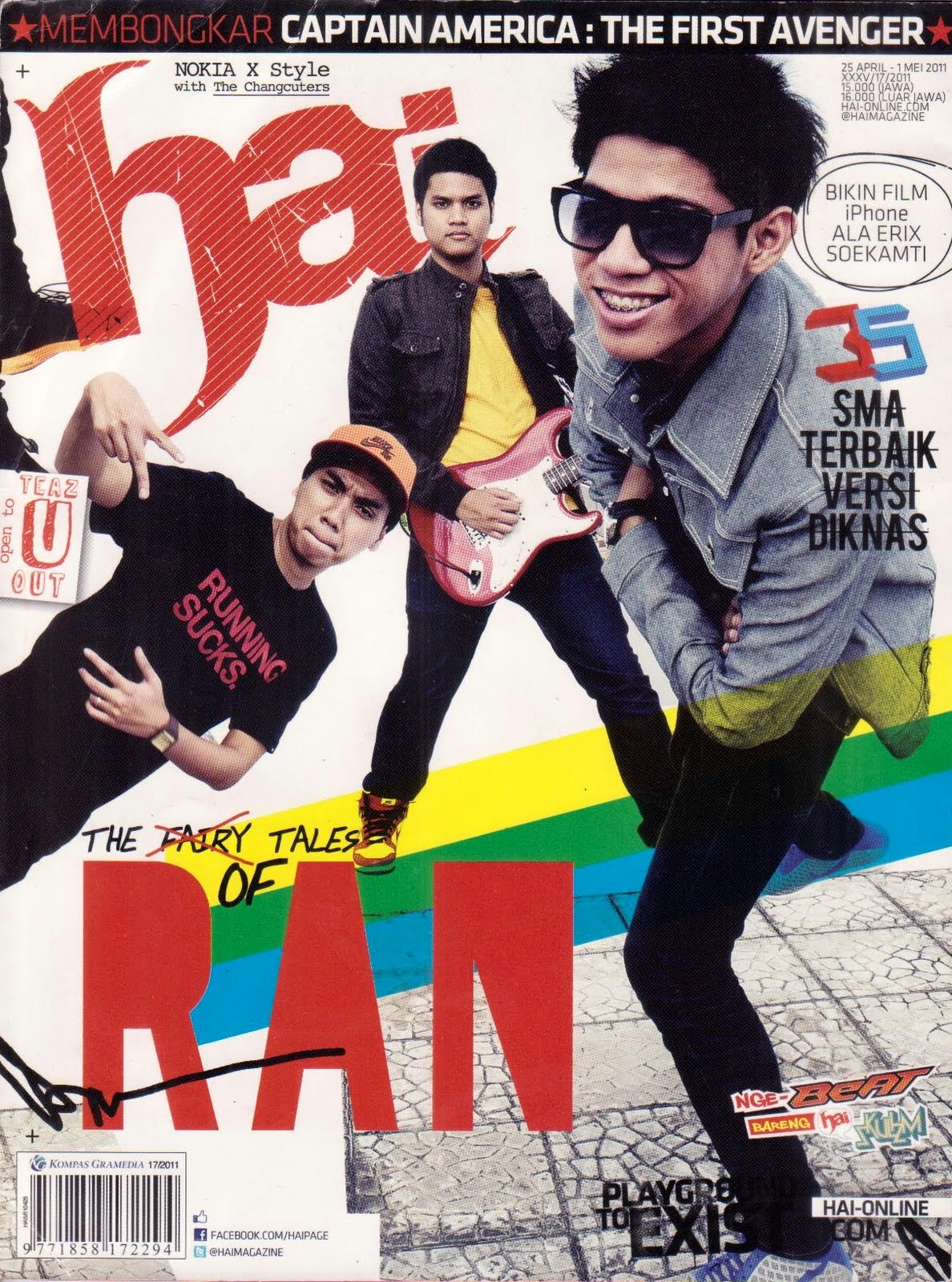 Sumber : Majalah Hai, Vol. 17, 25 April - 1 Mei 2011