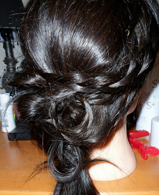 Hairstyle with Braid wedding updo look
