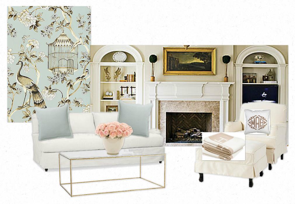 Oiseaux et Fleurs Mineral Wallpaper With Oiseaux et Fleurs Mineral